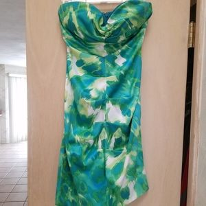 Short multi color green dress